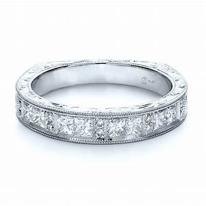 Custom Princess Cut Diamond Women's Wedding Band #1134 ...