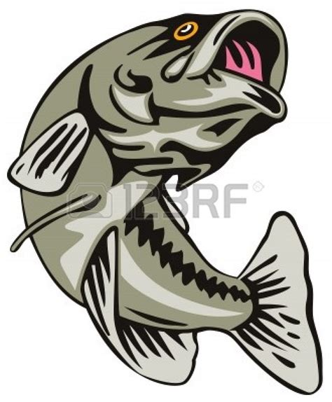 Bass Clipart The Gallery For Gt Bass Fishing Clipart Black And White