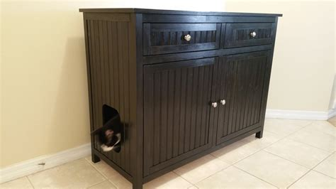custom litter box cabinets large 2 front drawers odor free custom hand made in