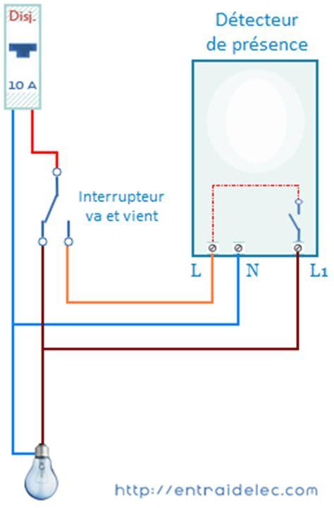 schema branchement detecteur de mouvement avec interrupteur