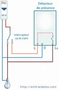 Interrupteur Detecteur De Mouvement : schema branchement detecteur de mouvement avec interrupteur ~ Dallasstarsshop.com Idées de Décoration
