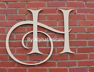 H wall decor wooden letters decorative wall by alphabeticals for Large initial letters