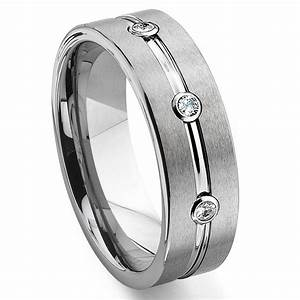 tungsten wedding rings with diamonds affordable navokalcom With tungsten diamond wedding rings