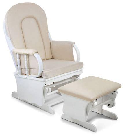 rocking glider chair w ottoman white buy