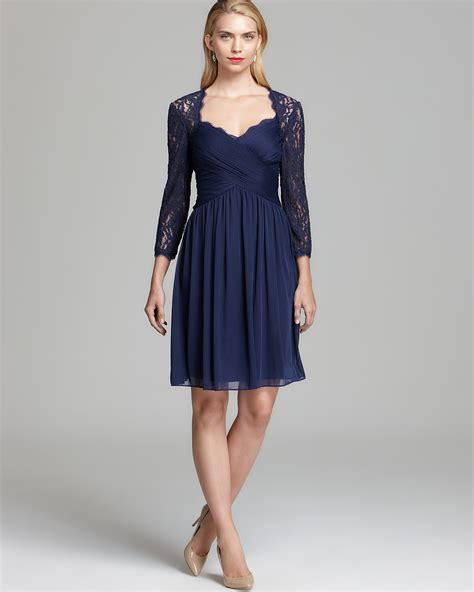 papell draped gown papell draped dress lace yoke bloomingdale s