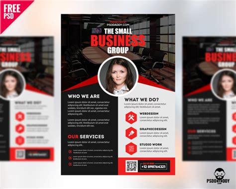 [free]professional Business Flyer Psd Freebie