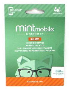View current promotions and reviews of t mobile prepaid phones and get free shipping at $35. Mint Mobile Prepaid SIM Card with Unlimited Talk and Text 8GB/Month LTE for 3 Mo 853455004846 | eBay