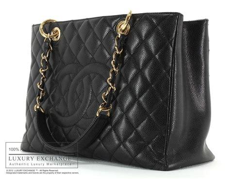 authentic chanel grand shopper tote bag black