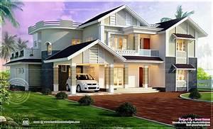 Beautiful, 4, Bedroom, House, Exterior, Elevation