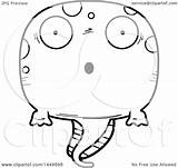 Tadpole Cartoon Pollywog Lineart Character Illustration Mascot Clipart Royalty Surprised Evil Thoman Cory Graphic Vector Bored Clip Clipartof sketch template