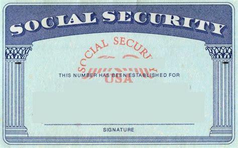 blank social security card template social security