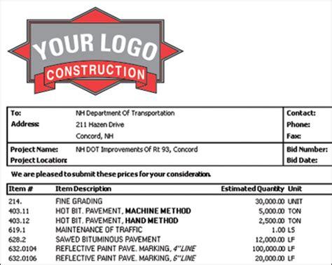 construction estimating software job project bidding
