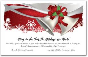 silver bells christmas holiday invitations