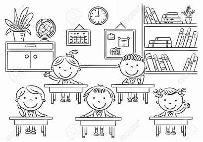Classroom Clipart Coloring Pages