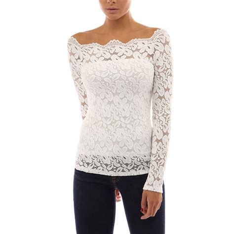 womens blouses fashion womens sleeve shirt casual lace blouse