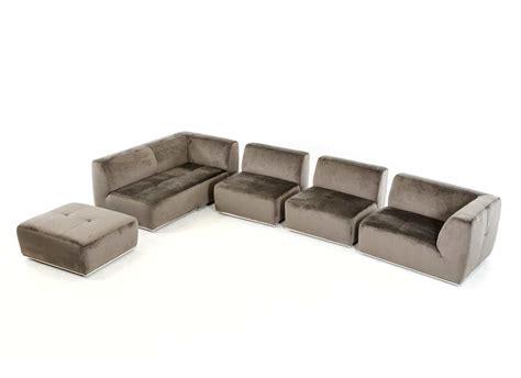 Contemporary Fabric Sofas by Contemporary Grey Fabric Sectional Sofa Vg389 Fabric
