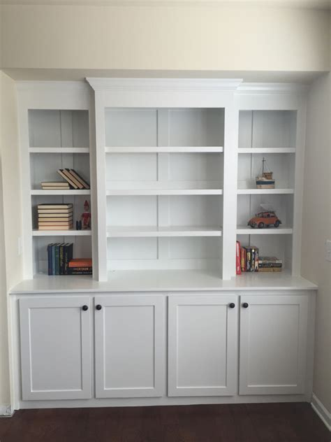 A Built In Bookcase by White Built In Bookcase With Lights Diy Projects