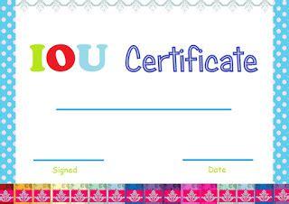 select  print iou certificates  cards fresh designs