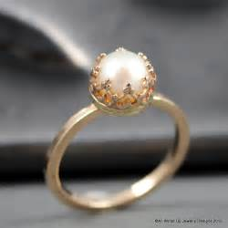 pearl wedding rings 14k gold pearl ring pearl engagement ring sizes 3 by ppennee