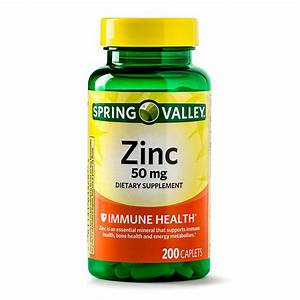 Spring Valley Zinc Caplets  50 Mg  200 Ct - Walmart Com