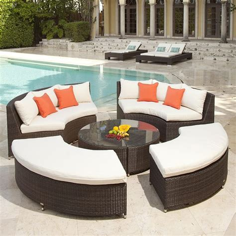 circa source wicker circular outdoor sofa sectional