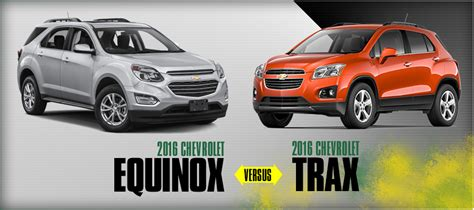 2016 Chevrolet Trax Vs Chevrolet Equinox Model Comparison