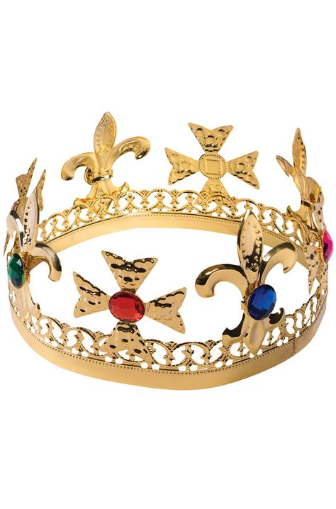 Gold Jeweled Crown - PureCostumes.com