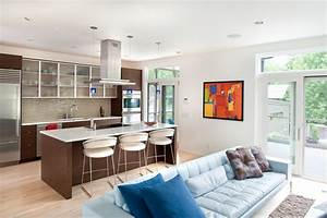 10 amazing ideas to design kitchen combined with living room With kitchen and living room design ideas
