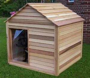Extra large cedar dog house for 2 large dog house