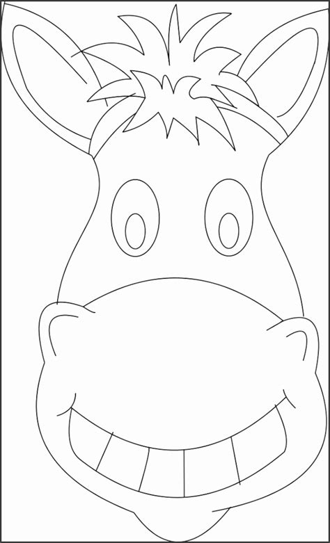 printable donkey face mask template sampletemplatess sampletemplatess