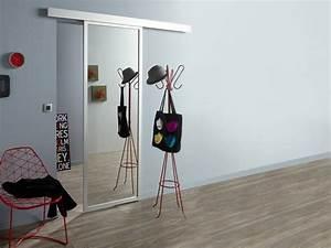 Porte Coulissante Miroir Sur Mesure : porte coulissante miroir leroymerlin appartement malin ~ Premium-room.com Idées de Décoration