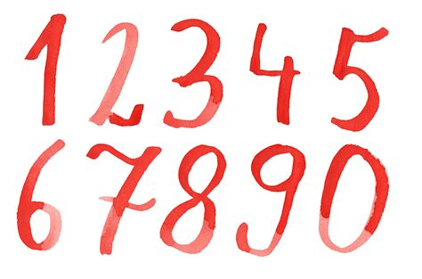 red watercolor numbers png transparent onlygfx com