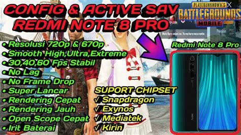 config pubg mobile  active sav ori redmi note