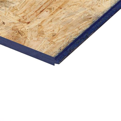 home depot flooring plywood 7 16 in x 48 in x 8ft oriented strand board 386081 the home depot