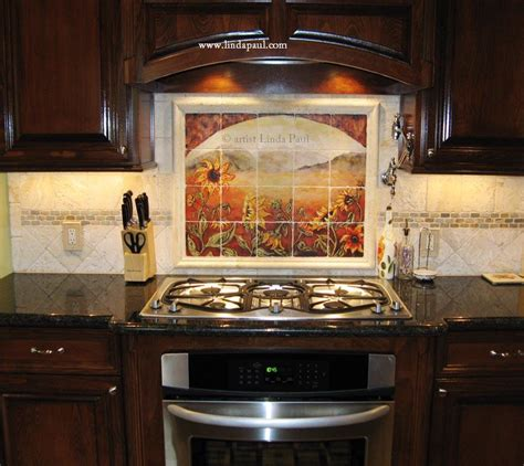 kitchen backsplashes ideas about our tumbled tile mural backsplashes and accent