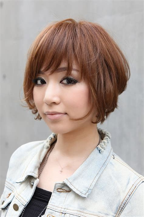 trendy short copper haircut from japan stacked short