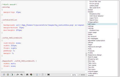 creating css stylesheets kentico  documentation