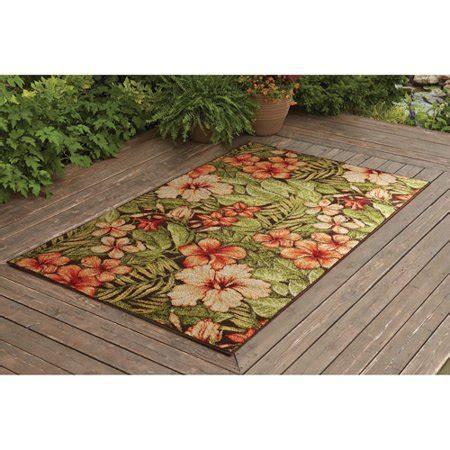 outdoor rugs walmart better homes and gardens tropical gardens outdoor rug 6 6