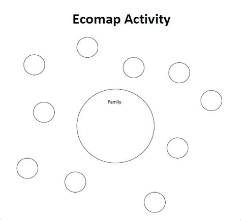 Ecomap Template Exle Blank Ecomap Template Social Work For Grad