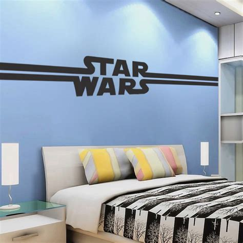 boys star bedroom wallpaper mural decal star decal wars murals cool logo wall decals