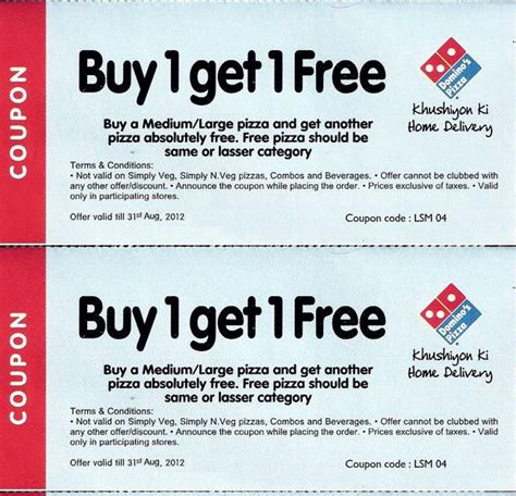 dominos offer coupon today