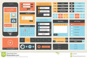 modern ui design flat ui design kit for smart phone royalty free stock images image 32844519