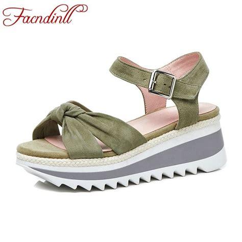 Gosh Flat With High Wedges facndinll fashion summer flat shoes platform sandals
