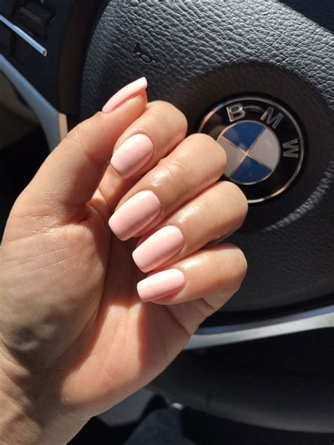 nails   point color  gel dnd peach buff perfect