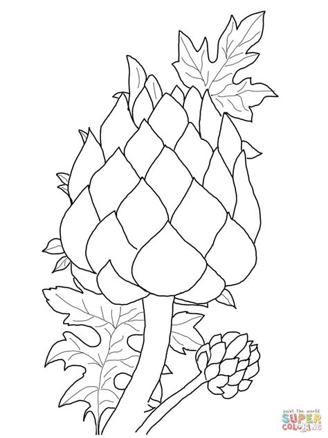 Coloring Foto by Artichoke Coloring Page Free Printable Coloring Pages