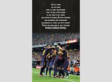 The FC Barcelona anthem el Cant del Barça