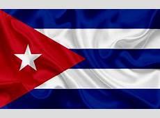 Download wallpapers Cuban flag, Cuba, Latin America, silk