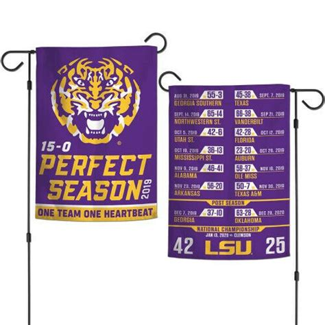 LSU Tigers Garden Flag 2 Sided 2019 Season Football ...