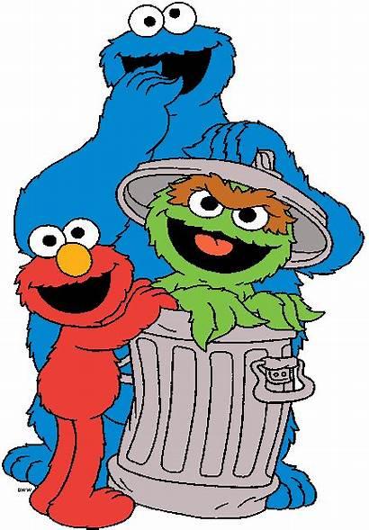 Cartoon Sesame Street Clip Clipart Oscar Elmo