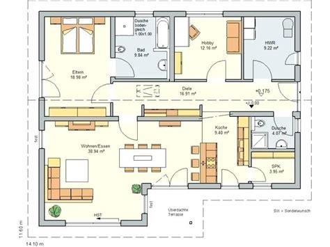 Grundriss Bungalow 150 Qm by Grundrisse Bungalow Grundriss 150 Qm 5 Zimmer 4 Mit Garage